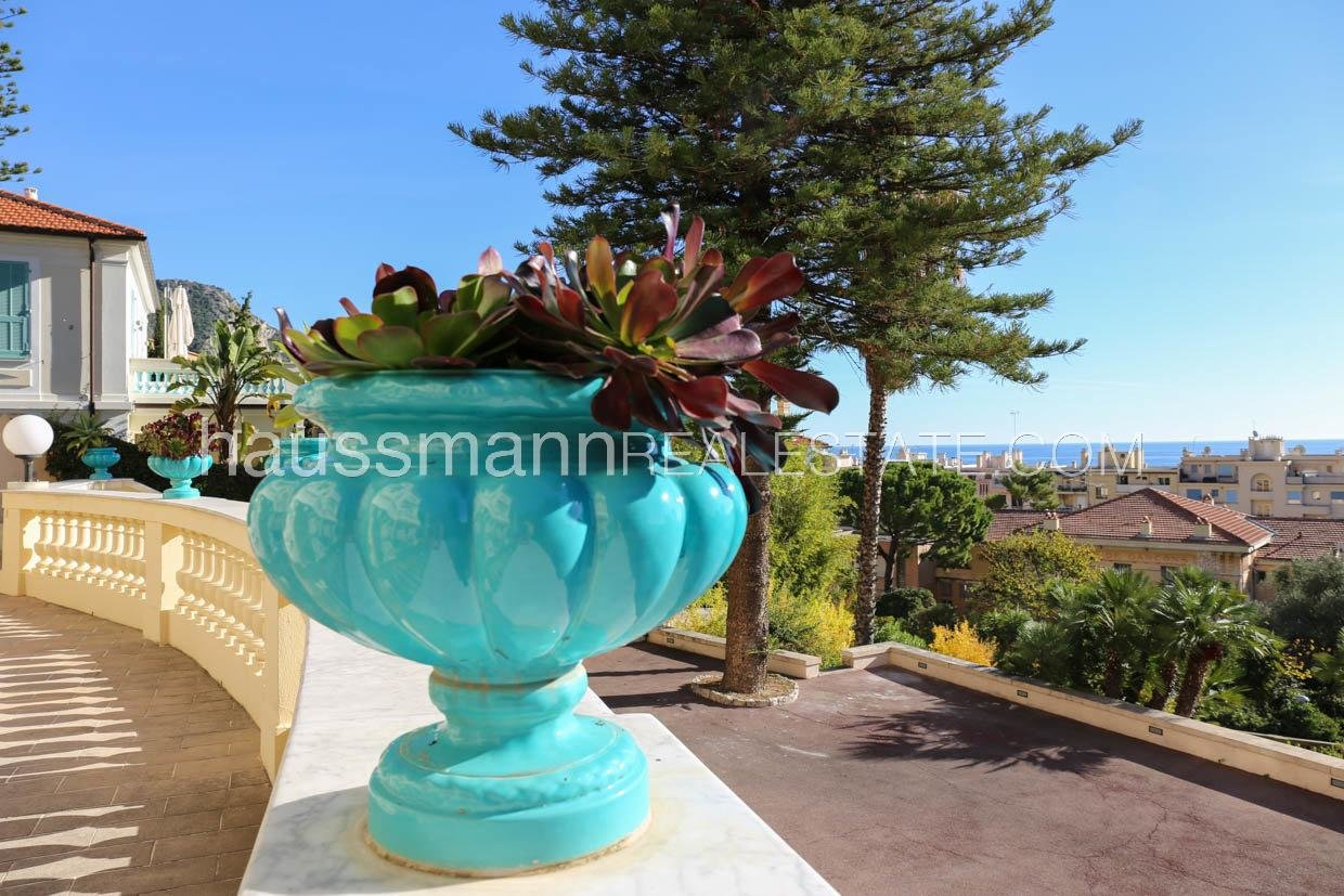 Buying Apartment Beaulieu-sur-Mer In Belle epoque  villa with park and sea view